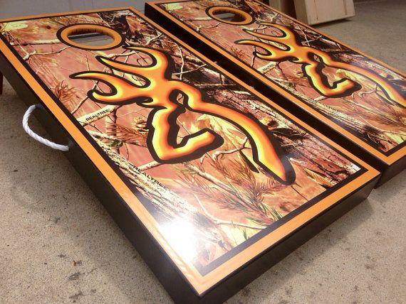 browning full camo custom cornhole boards by wgcornhole on etsy - Custom Corn Hole Boards