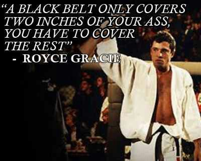 A black belt only covers...