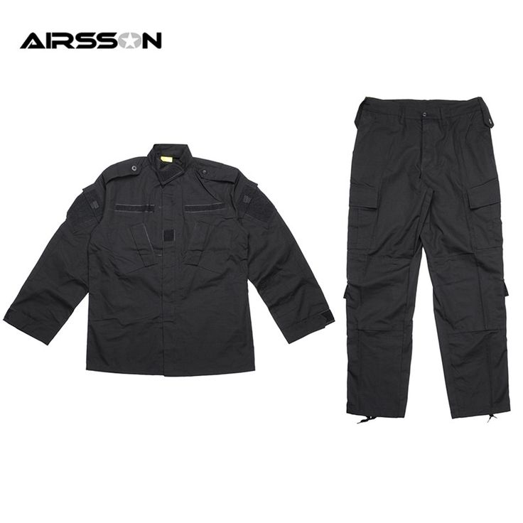 49.40$  Watch here - http://alijhc.shopchina.info/go.php?t=32491977478 - Black Tactical BDU Uniform Field Shirt And Pants Clothes For Hunting And Finshing Men Outdoor Paintball Military Wargame Suit 49.40$ #buymethat