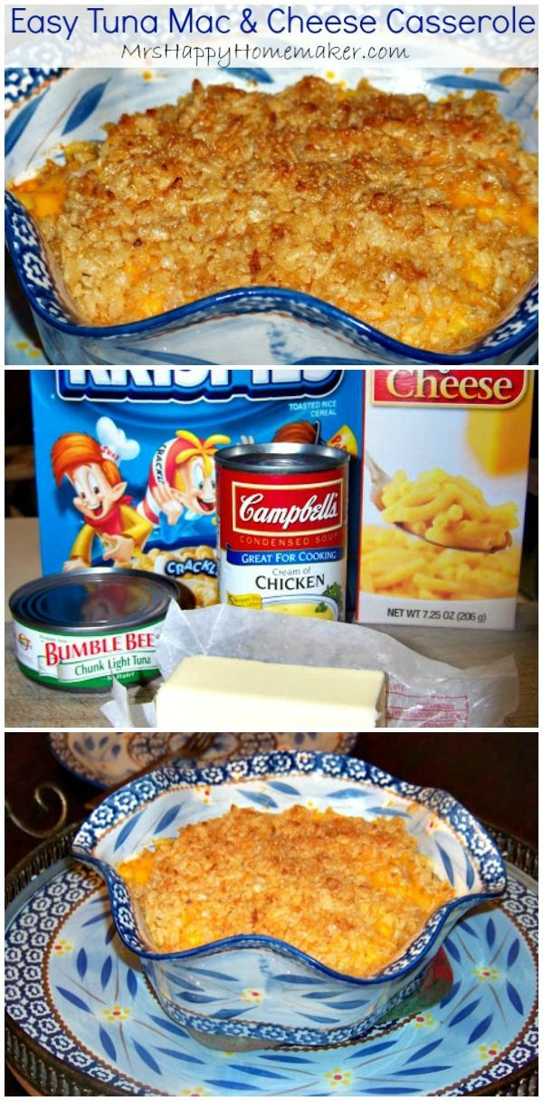 This Easy Tuna Mac & Cheese Casserole is a dish even tuna haters will love. You only need a handful of ingredients to make it & it's SO easy & cheap!!