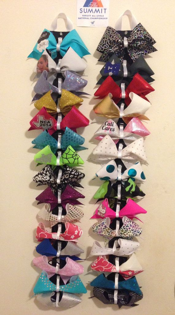 Cheer Bow Holder by GoldenCheerBows on Etsy