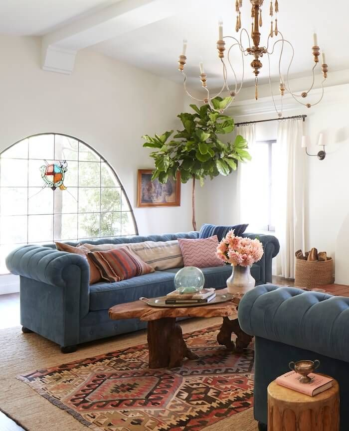 YES Large Sisal Area Rug In Living Room With Longer Rectangular Patterned One Going Down Middle Front Of Sofa This Plan Ive Been Sending