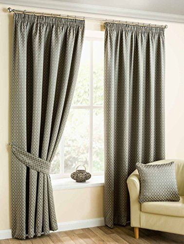 "Marrakech Trellis, Pewter Grey Lined Curtains, Ready Made Tape Top Curtain Pairs, 66"" x 90"" Ideal Textiles http://www.amazon.co.uk/dp/B016L069ZM/ref=cm_sw_r_pi_dp_vmQCwb0H54YWK"