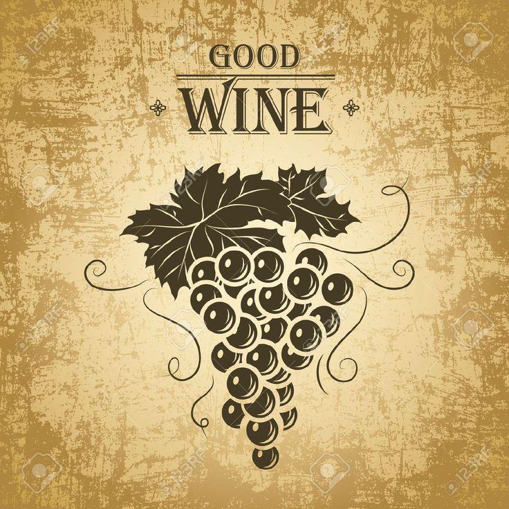 23973792-Wine-label-with-grapes-Wine-menu--Stock-Vector.jpg (1300×1300)