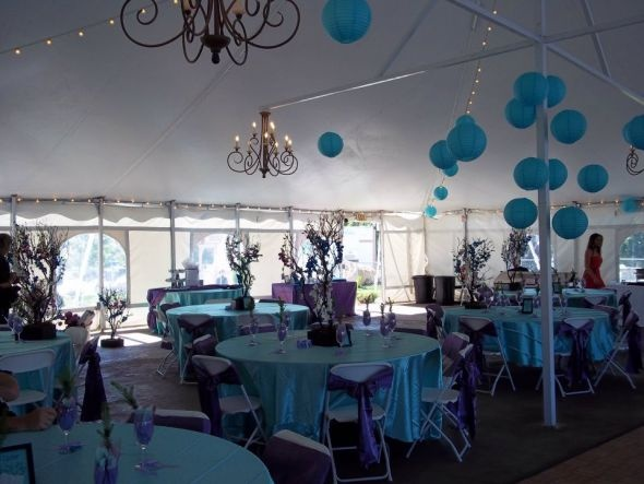 tiffany blue tablecloths for sale :  wedding purple reception table linens teal 251887 10150982752039438 994813874 N