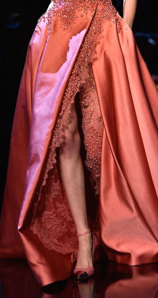 Rich orange and pink silk #Luxurydotcom
