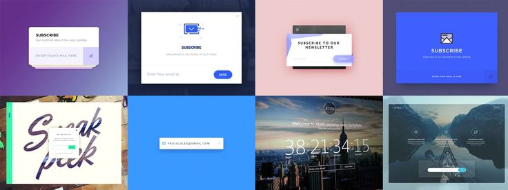 Newsletter and Subscribe Form UI Inspiration - via Muzli