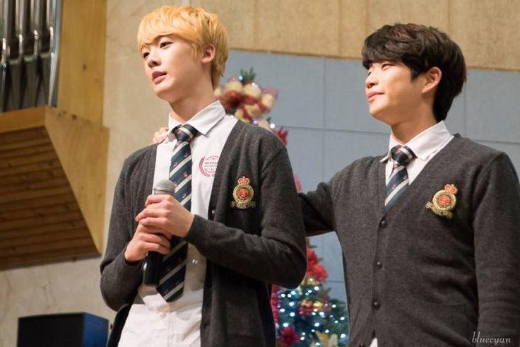 [29.12.15] Baekwoon Middle School - SanHa e MyungJun