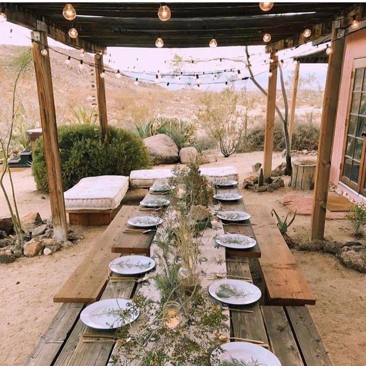 Ideal para una cena de verano 👌🍃 #decomesa #decoexteriores #terrazasconenc…