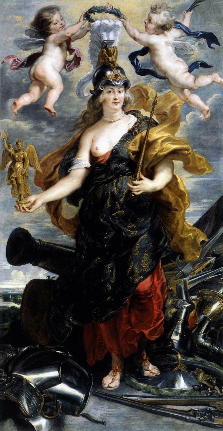 RUBENS, Peter Paul Marie de Médicis as Bellona 1622-25 Oil on canvas, 276 x 149 cm Musée du Louvre, Paris