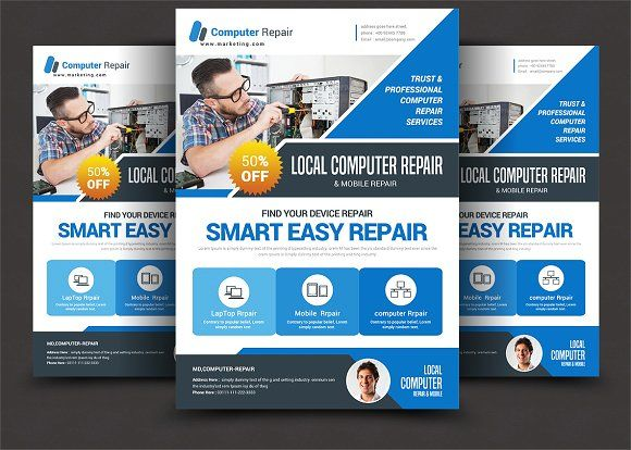 Computer Mobile Repair Flyer With Images Flyer Computer