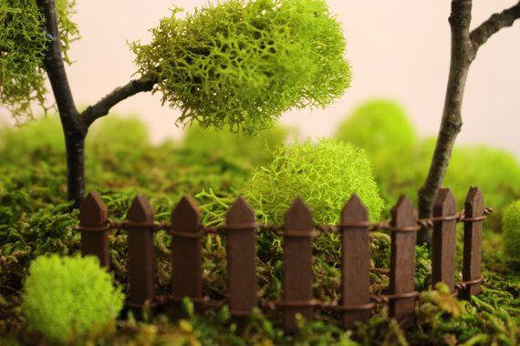 Miniatura marrone steccato recinto del di FairyTreeMiniatures