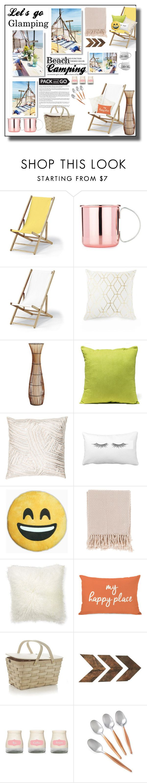 """Let's Go Glamping: Beach Camp"" by kate34000 ❤ liked on Polyvore featuring interior, interiors, interior design, home, home decor, interior decorating, Telescope Casual, Pier 1 Imports, John Robshaw and Surya"