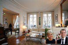 Emmanuel Macron et sa femme Brigitte Trogneux appartement Paris