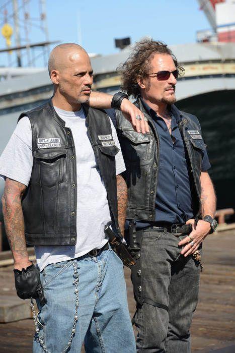 Tig & Happy -  'Sons of Anarchy' Season 7 Photos, SAMCRO, SOA, great tv, bikers, brothers, family, portrait, photo