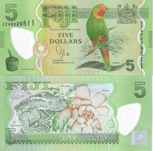 3 Note Set Fiji 5 20 Dollars $ Banknote World Money Currency Note Bill 2013 | eBay