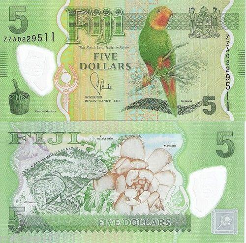 3 Note Set Fiji 5 20 Dollars $ Banknote World Money Currency Note Bill 2013 | eBay