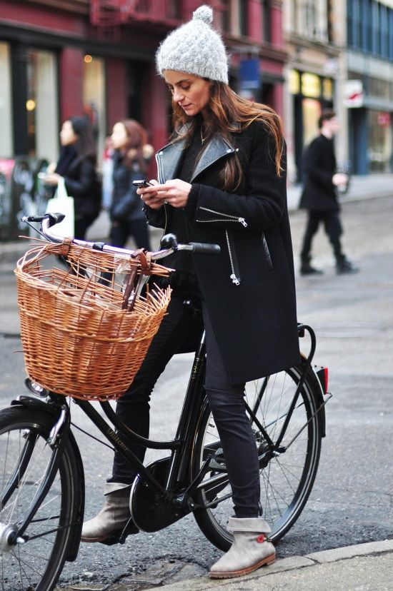 Stylish and comfortable outfit for riding around the city in winter / the love assembly