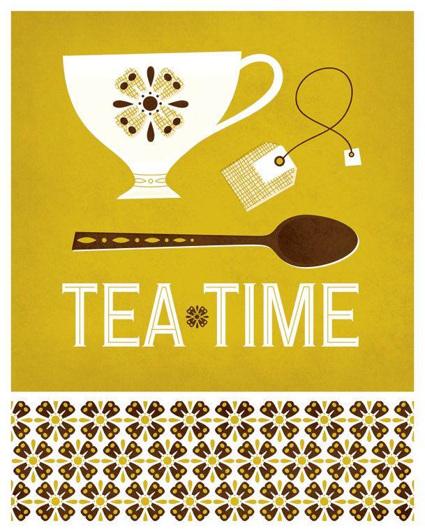 Tea Time Print. $12.00, via Etsy /// NiftySwank