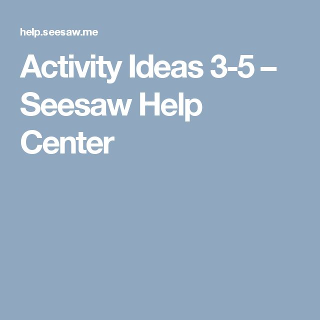 Best Seesaw Images On   Seesaw Swings And Seesaw App