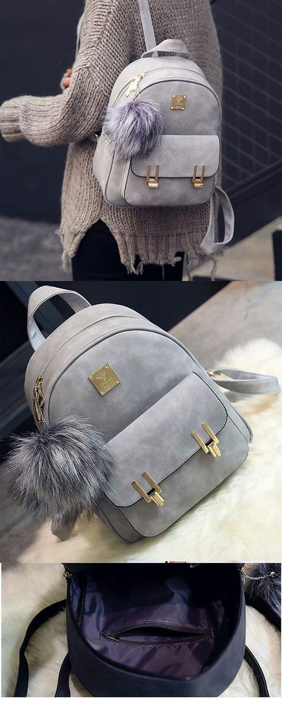 Fashion Frosted PU Zippered School Bag With Metal Lock Match Backpack for big sale in this summer! #backpack #bag #rucksack #cute #school #college #student #travel