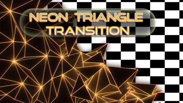 Neon Triangle Transition Triangle Neon Picture Light