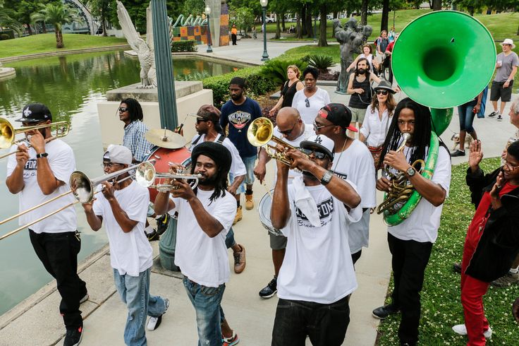 New Orleans Second Line- Jazz in the Park Festival in Armstrong Park