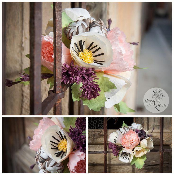 Ramo de novia con flores de algodon