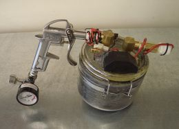 Powder Coating Gun Homemade Adapted From A Kitchen Canister And Repurposed Spray
