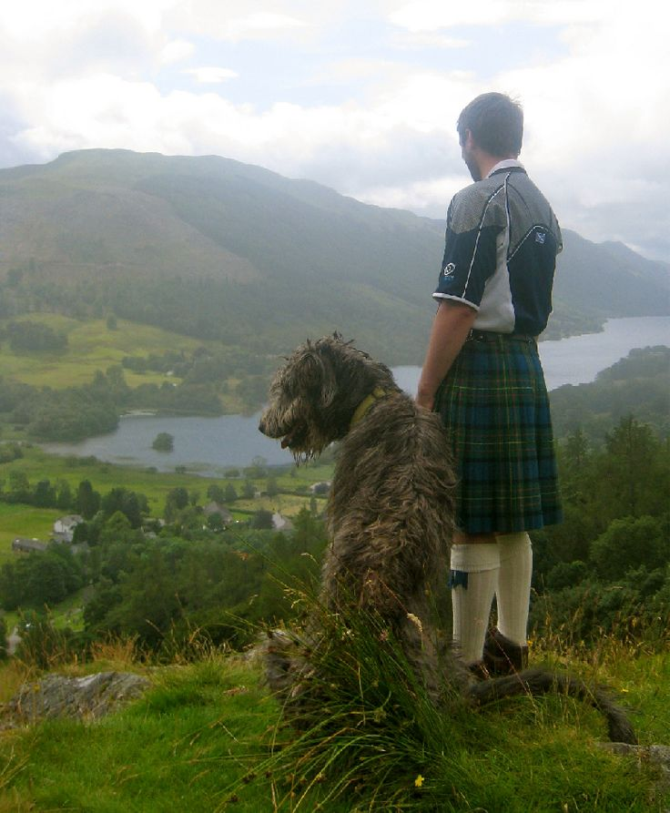 Wolfhound, & a man in a kilt, in Scotland. Am I in heaven?                                                                                                                                                      More