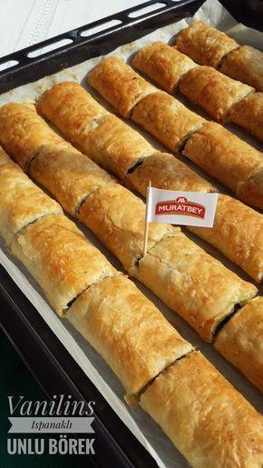 Ispanaklı Börek Unlu Börek Baklavalık Yufka Bu akşamın tarifi olan ıspanaklı unlu börek,çıtır çıtır yenilebilecek nefis lezzetli bir ...