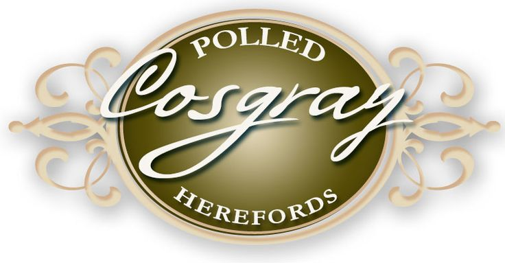 cosgray polled herefords logo by ranch house designs