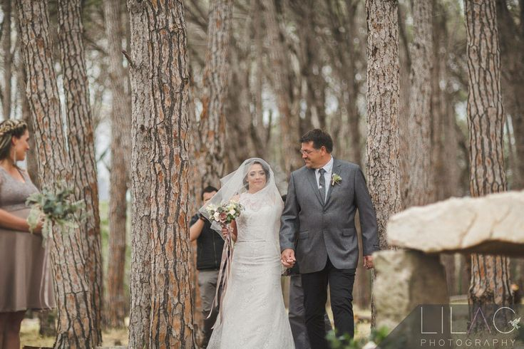 Forest Weddings  Ceremony in Forest Down the Aisle with Father of the bride Wedding venue in Cape Town close to Stellenbosch Sunset wedding photography Ido @ WineryRoadForest
