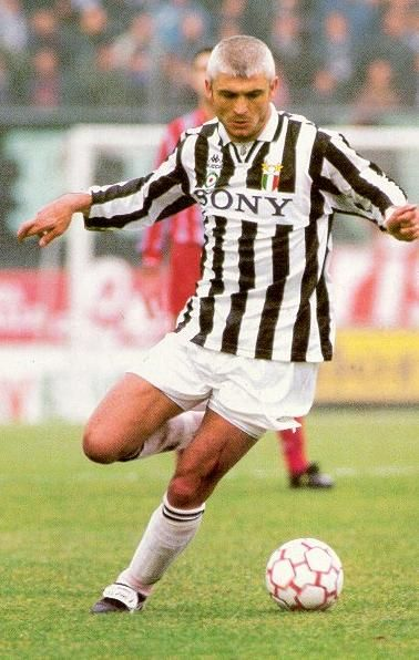 Fabrizio Ravanelli.  Italian former international footballer. Mainly known for playing as a striker for Juventus and the national Italian footballteam.
