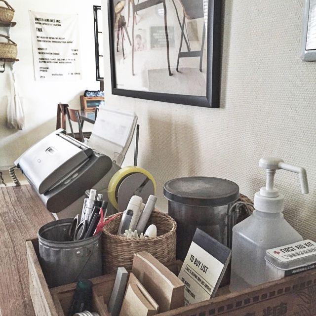 TNKさんの、棚,収納,電話台,男前,男前化計画,塩系インテリアの会,のお部屋写真