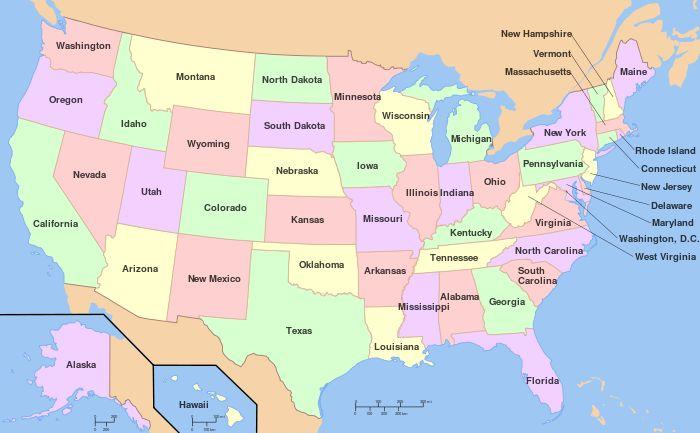 Az Amerikai Egyesült Államok közigazgatási egységei – Wikipédia