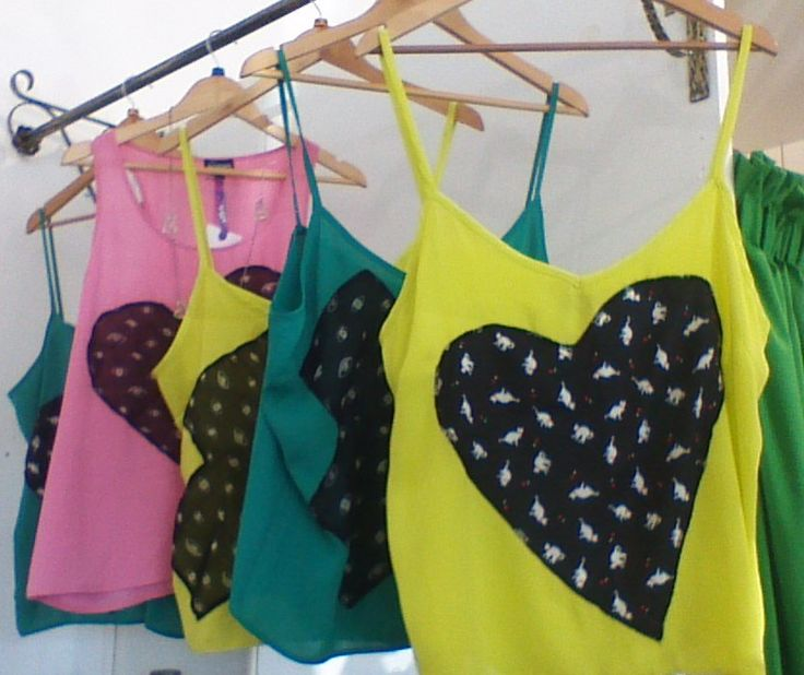 Cutie-pie tank tops.  Great range of sizes with assorted motifs.