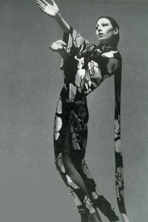 Anjelica by Richard Avdeon, 1970.