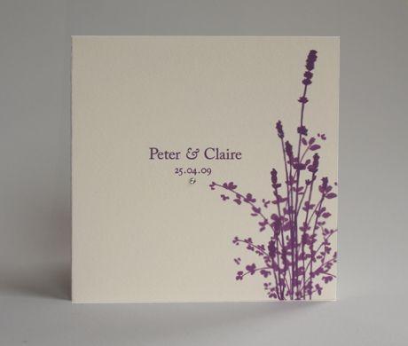 Lavender Wedding Invitation, Country Garden Design From Lovat Press.