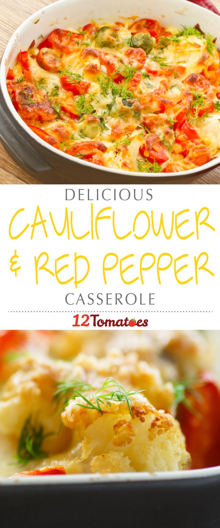 Cauliflower & Red Pepper Casserole | This is probably because a lot of times it's lumped in with a mix of other vegetables and doesn't really get a chance to wow people with it's own unique flavor.