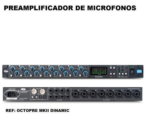 Octopre mkII dinamic preamplificador de 8 canales con compresor