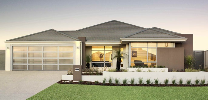 Home Buyers Display Homes:  Nouveau Facade. Visit www.localbuilders.com.au/display_homes_perth.htm for all display homes in Perth