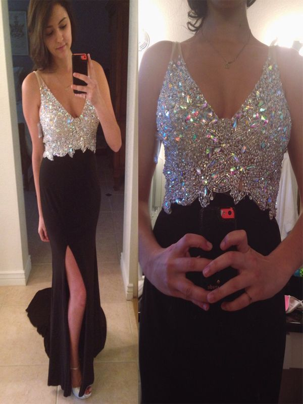 The+prom+dresses+are+fully+lined+  Since+it's+a+fit+design,+there+are+no+chest+pad+and+boning+on+the+bodice.+    This+dress+could+be+custom+made,+there+are+no+extra+cost+to+do+custom+size+and+color.    Description+about+prom+dress+  1,+Material:beads,+chiffon.  2,+Color:+picture+color+or+other+co...