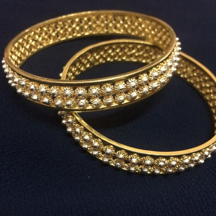 Silver Bangles with the perfect blend of gold plating and silver Filigree handcrafted to perfection by Silver Linings Cuttack