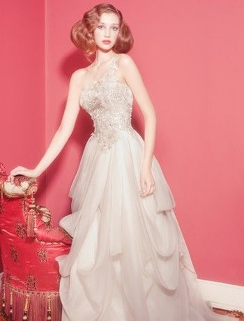 This dress is so deliciously opulent in a way that isn't garish or offensive.