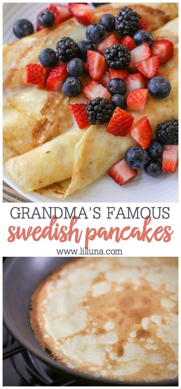 Grandma S Famous Swedish Pancakes Recipe Video Lil Luna Recipe In 2020 Swedish Pancakes Swedish Pancake Recipe Recipes