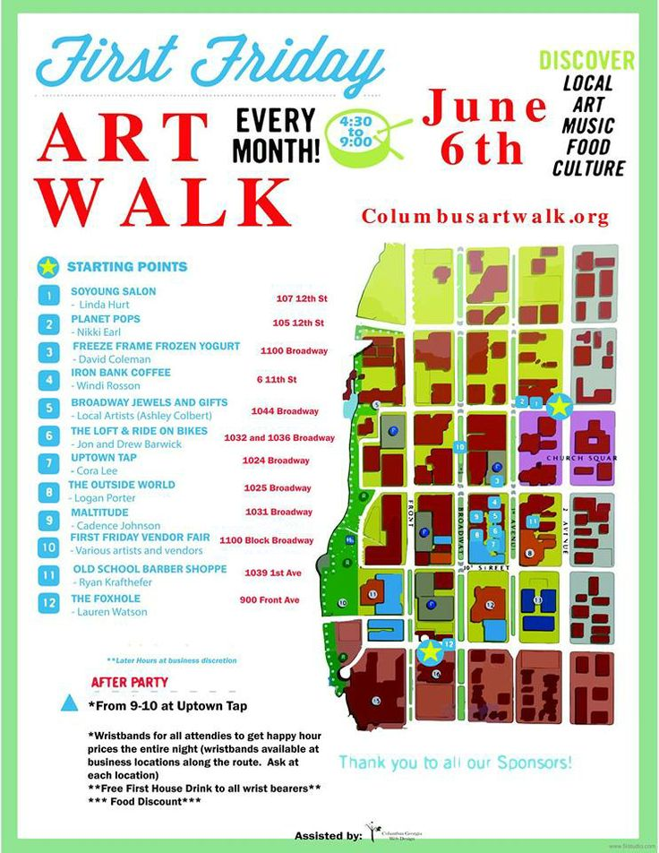 First Friday Art Walk - June 6th, 2014, in Uptown Columbus!  Come check it out! There is always A LOT of festivities and LIVE MUSIC on the First Friday of EVERY MONTH! The First Friday Art Walk brings local artists into local businesses and also has a vendor area for selling homemade eats and treats- located between 11th and 12th St on Broadway!  Come show your support!!  :D