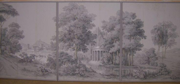 9 Zuber Wallpaper Italian Landscape Panels In 3 Frames For