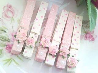 Cute Shabby Chic Clothes Pins......