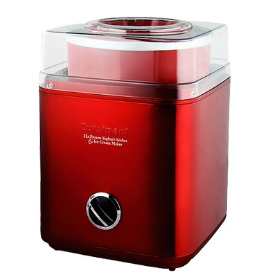 Cuisinart Ice Cream Maker, Yoghurt & Sorbet Maker - Metallic Red